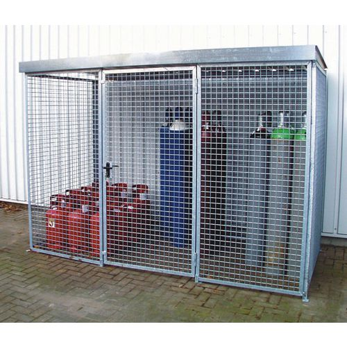 Gas cylinder storage - Cage with roof