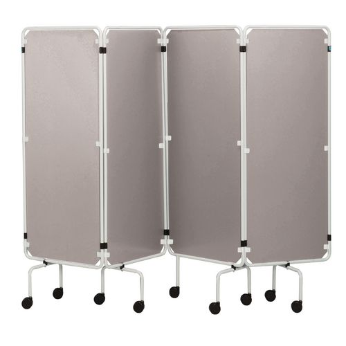Medical folding 4 panel screen