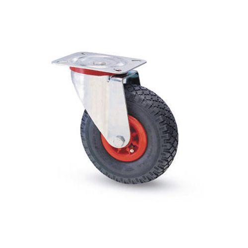 Castors with polypropylene centre, pneumatic tyred wheels - swivel
