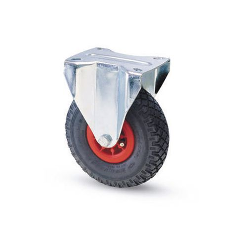 Castors with polypropylene centre, pneumatic tyred wheels - fixed