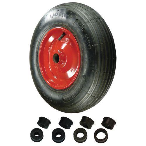 Replacement wheelbarrow wheels