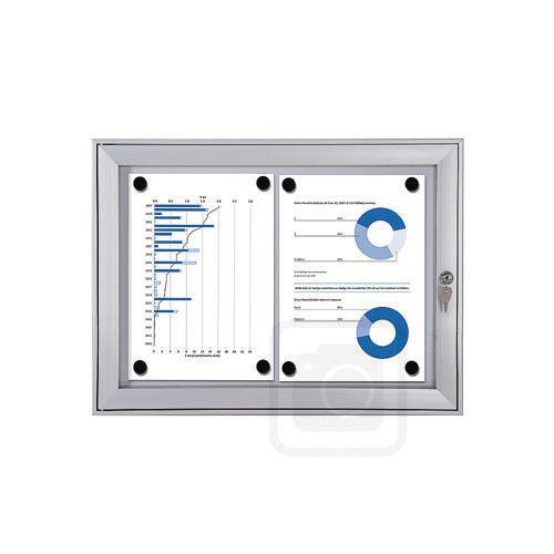 Economy Indoor/Outdoor lockable magnetic noticeboard