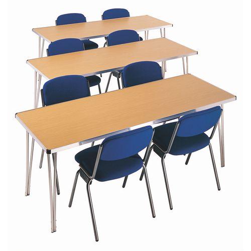 Aluminium framed folding tables