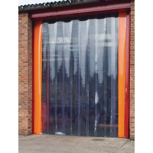 External PVC strip curtain doors