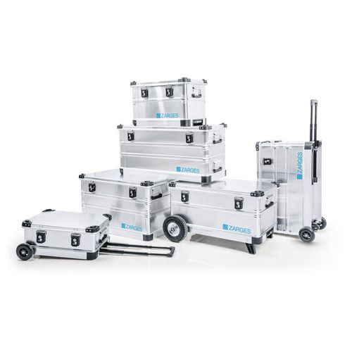 Roll box - Transit container with wheels and pull along handle