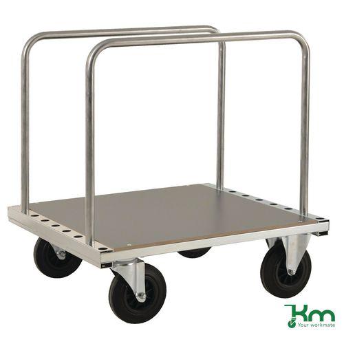 Konga heavy duty zinc plated board trolley with laminate platform