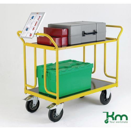Heavy duty laminate shelf trolleys