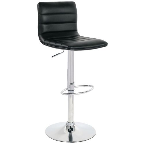 Leather bar stool with back support