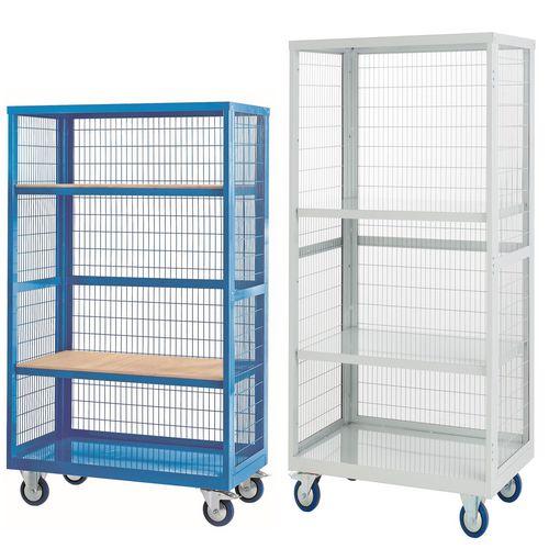 Mesh sided shelf trucks