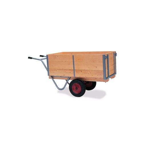 Balanced general purpose trucks, bulk type with single handle and hinged/detachable tail door
