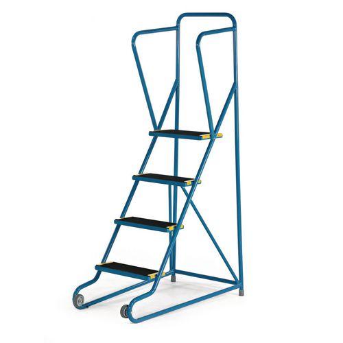 Tilt and pull mobile steps