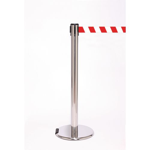 Wheeled Retractable Belt Barrier Set Of 2 With Free Uk