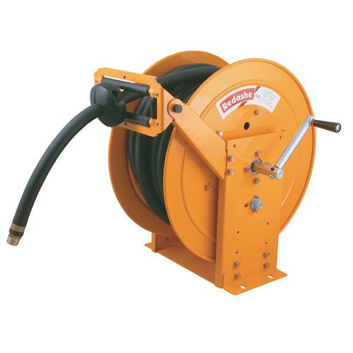 Metal high visibility rewind hose reels for air/water/oil/diesel