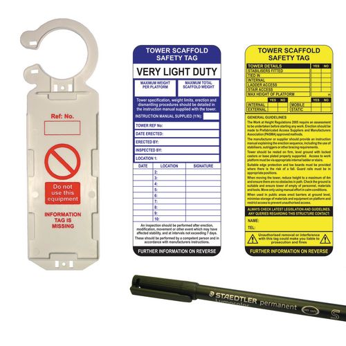 Tower safety management kits and refill packs