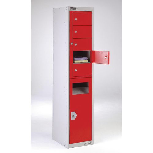 Combination storage/disposal locker