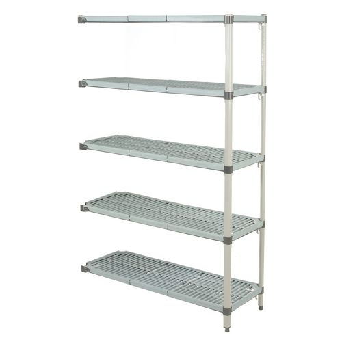 Metromax Q™ polymer shelving - 5 shelf add-on unit