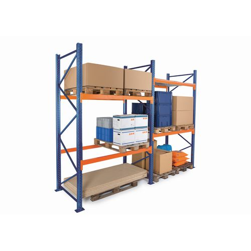 Pallet racking starter bays and add-on units - 3m high