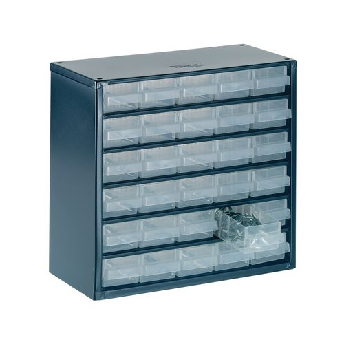 Raaco professional clear drawer storage cabinets