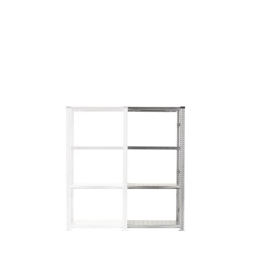 Zinc plated boltless steel shortspan shelving - up to 250kg