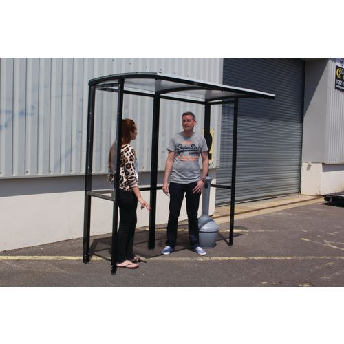 Open fronted smoking/vaping shelter