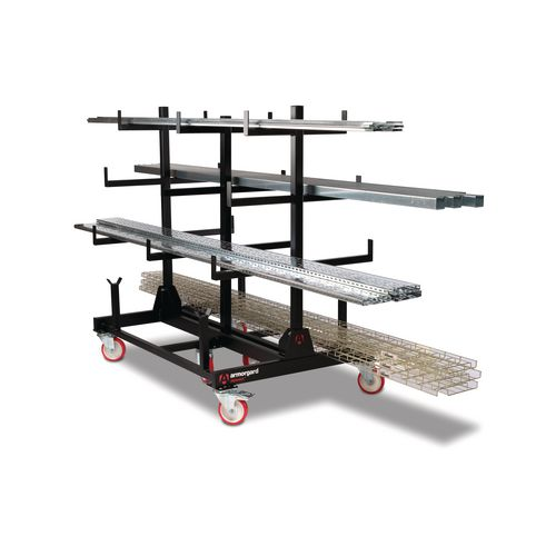 Pipe rack mobile storage units