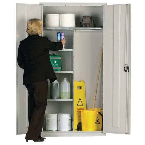 Lockable cleaning cupboard
