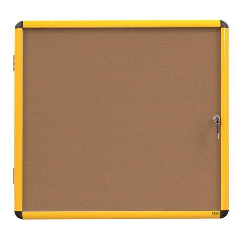 Industrial ultrabrite lockable noticeboard
