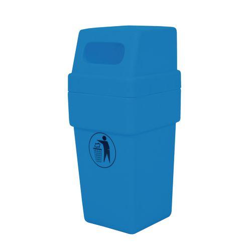114L hooded plastic litter bins