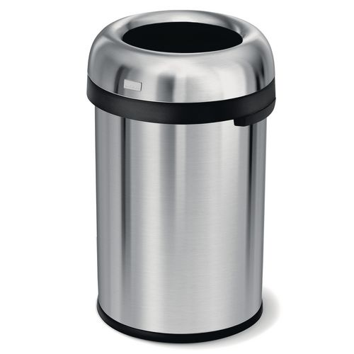 Simplehuman extra large bullet open top rubbish bin