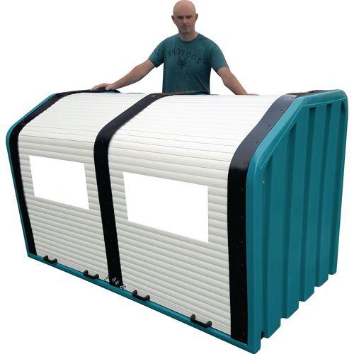 Outdoor extra large double door roller shutter storage unit