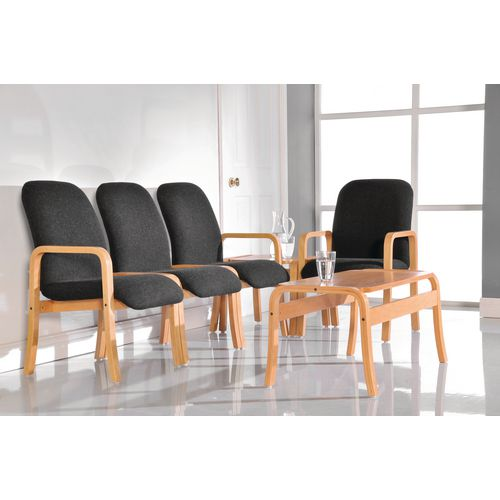 Wood frame reception chairs