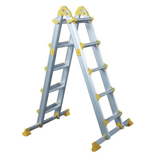 Multi-purpose telescopic ladders