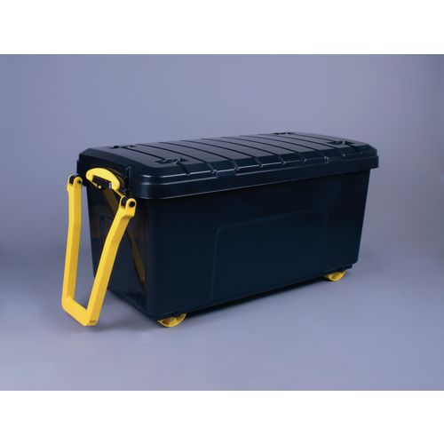 Wheeled Storage Trunk With Handle Stacking Containers