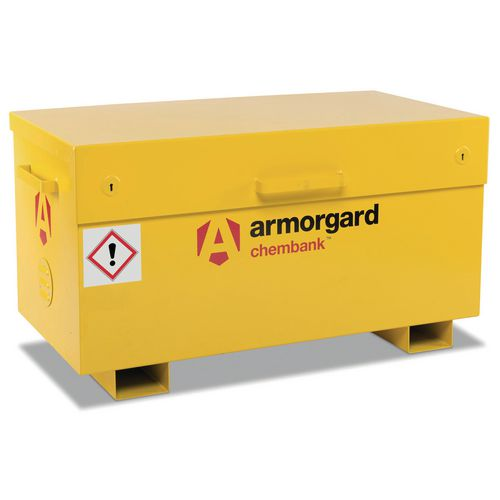 Armorgard High security chemical storage chests with pallet feet
