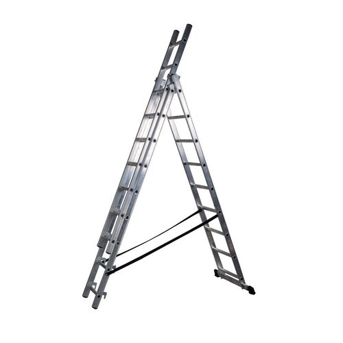 Transformable aluminium combination ladders