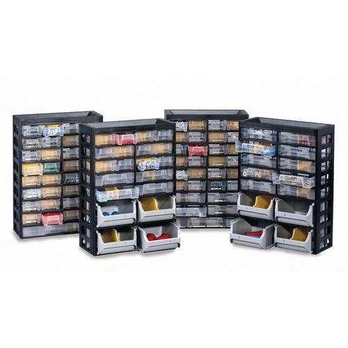 Plastic multi-drawer storage cabinets