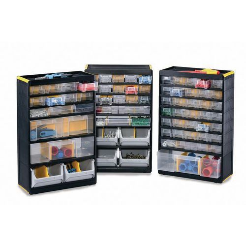 Premium plastic multi-drawer storage cabinets