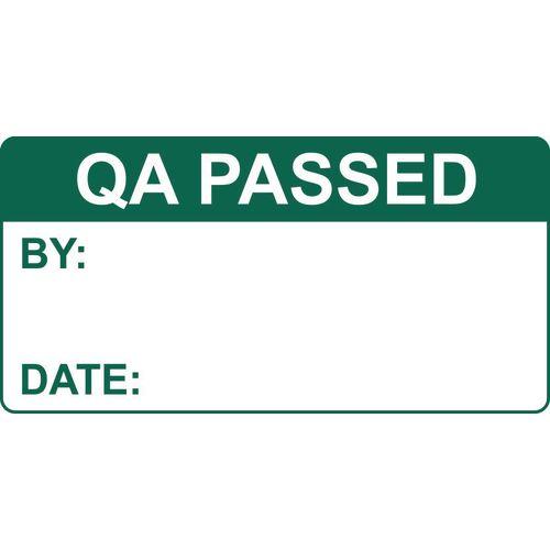 Quality management labels