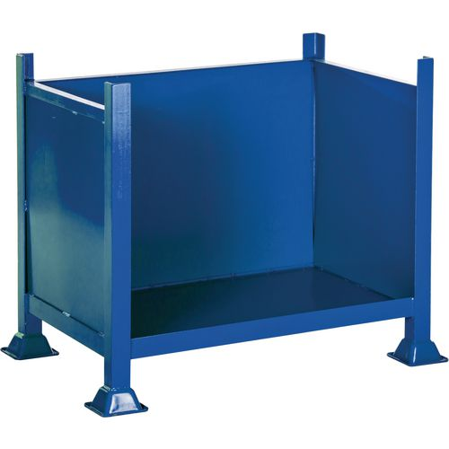 Steel box pallet with open front, 500kg capacity