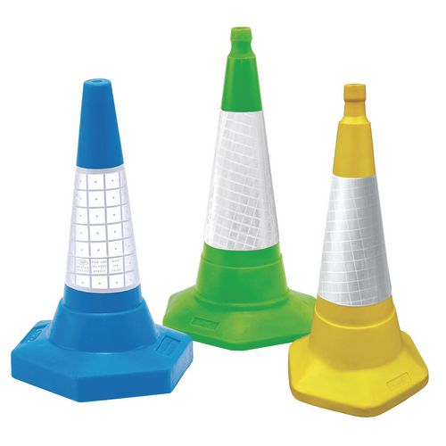 COLOURED CONES WITH REFLECTIVE SLEEVES