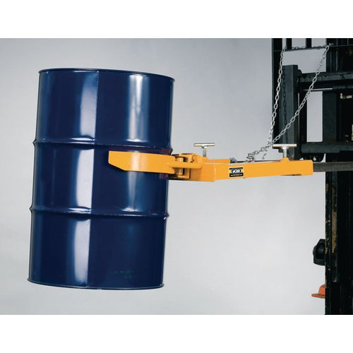 Forklift operated drum clamps