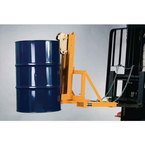 Forklift operated drum grabs