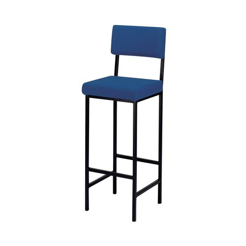 High stools with back support