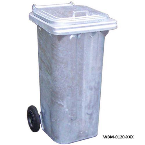 Galvanised wheelie bins