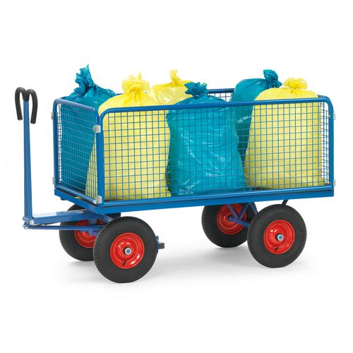 Trailers for hand powered towing - Turntable trucks with 600mm high sides and ends