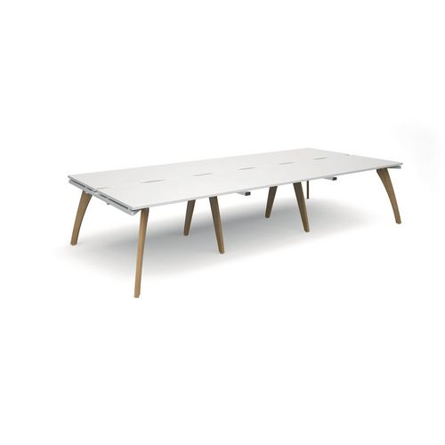 Contemporary bench desking - Triple back to back workdesks
