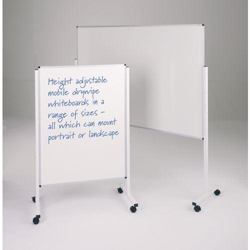 WriteOn® height adjustable mobile whiteboards