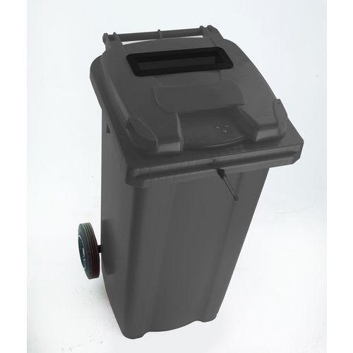 Lockable confidential waste wheeled bin