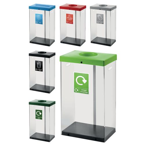 Clear body recycle bin
