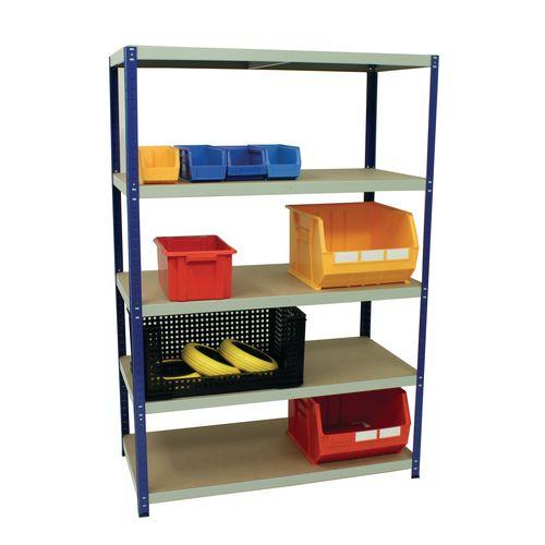 Boltless steel shelving with MDF shelves - 265kg